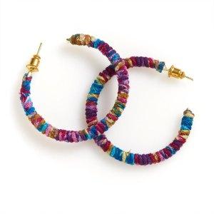 Sari Hoop Earrings