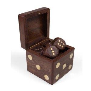 Sheesham Wood Dice Box