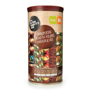 delhaize cacaopoeder fairtrade