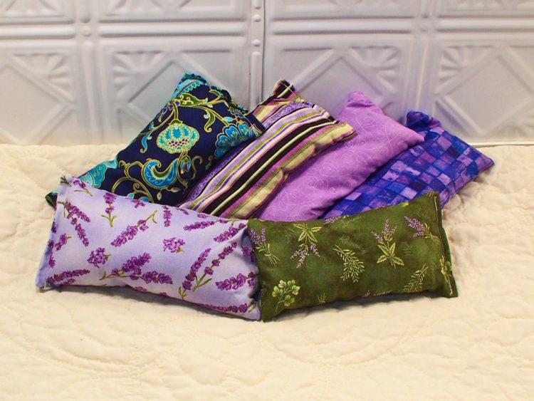 heat therapy lavender eye pillow