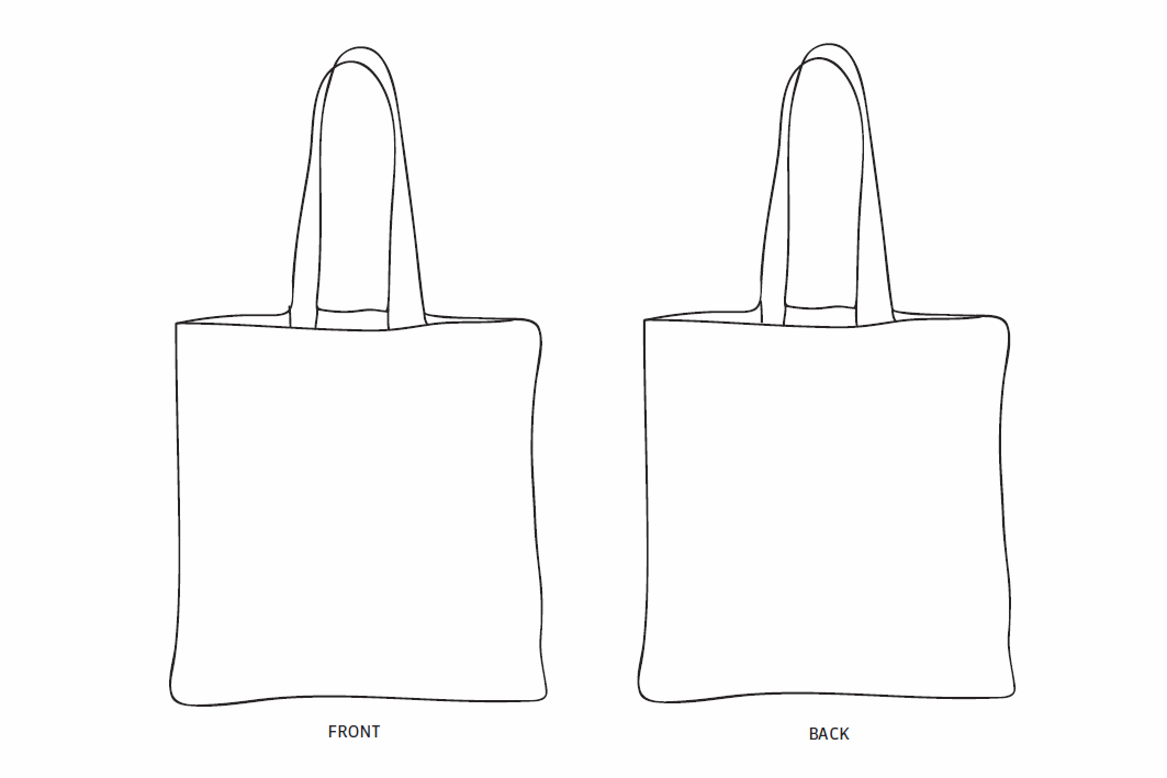 Grab handles for easy transport. Tote Bag Drawing Design Promotions