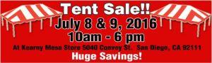 Tent sale 7 6 2016