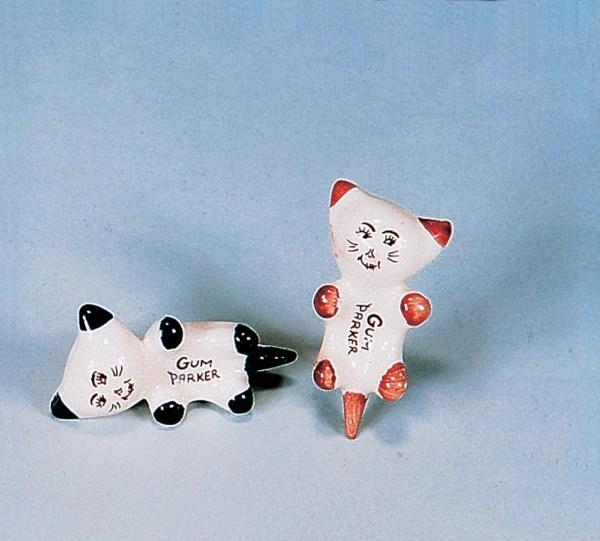 Ceramic Cat Gum Parker  2-5274