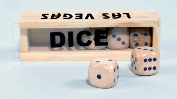 Custom Imprint 16mm 5pc Wood Dice Set in Box   3-4011-DI