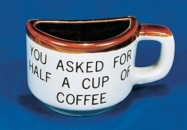 Half Cup of Coffee Mug   3-5163