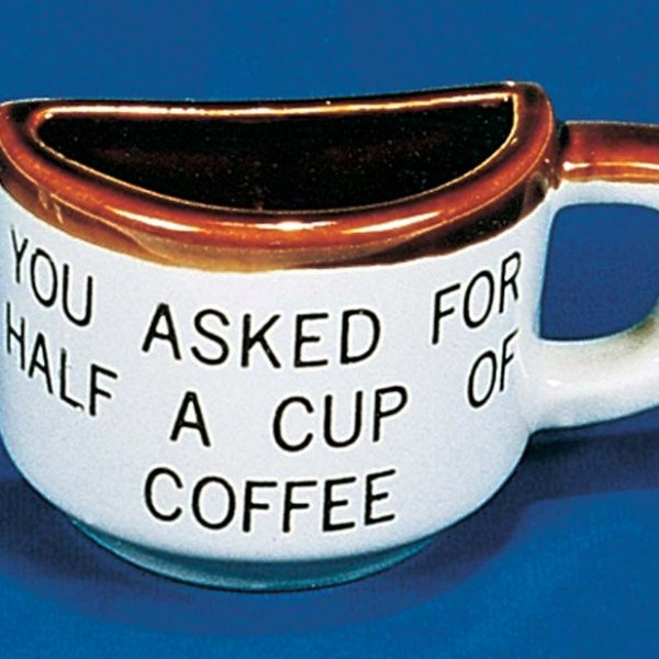 Half Cup of Coffee Mug   3-5163