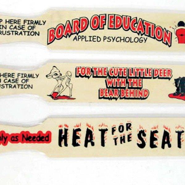 Wood Comic Paddles - 3 assorted    5-1869