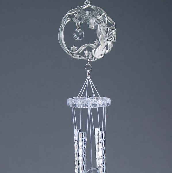 Pewter and Acrylic Angel Wind Chime   6-174
