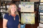 Melissa Jander and her fine art.