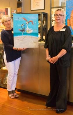 Kathy B. Art Walk hostess with Marga