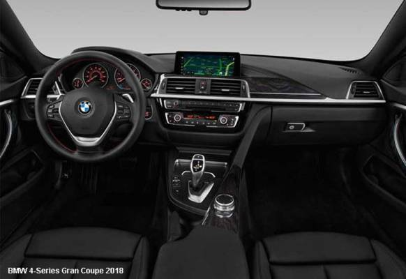 BMW-4-Series-Gran-Coupe-430i-2018-steering-and-transmission