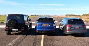 Mercedes-AMG G63 Beat Range Rover SVR & Audi SQ7 in A Drag Race