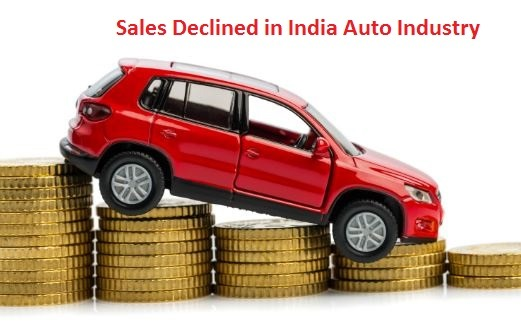 Sales decline witnessed by many companies of Indian automobile industry