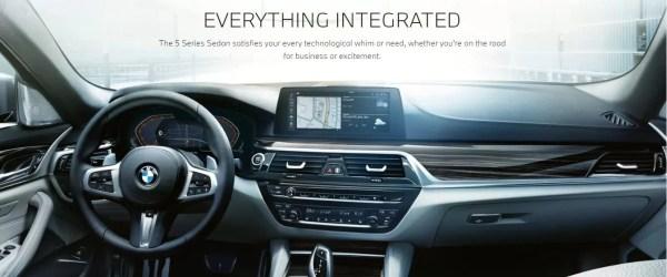2020 BMW 5 Series front interior cabin
