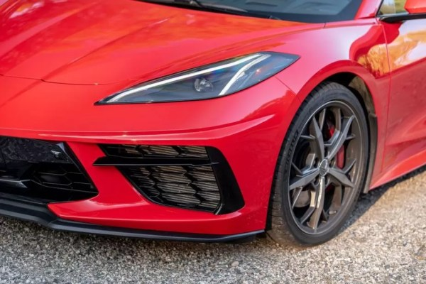 2020 Chevrolet corvette front headlamps and air intakes