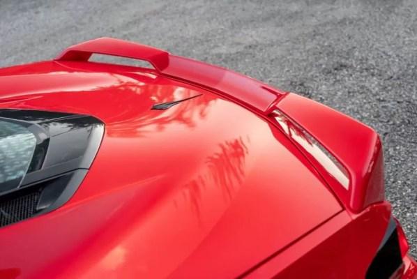 2020 Chevrolet corvette rear spoiler view