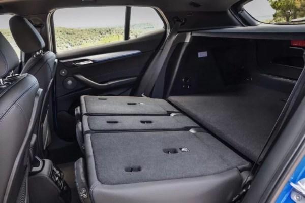 BMW 2 Series X2 SUV folded rear seats 1