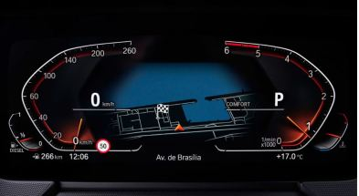 BMW 2 Series Gran Coupe 1st Generation information cluster