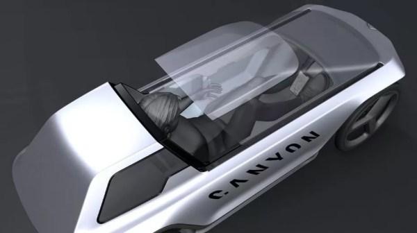 Canyon Capsule Revolutionary e bike car concept from inside
