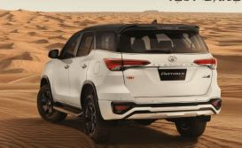 Toyota Fortuner TRD celebrity edition india rear view