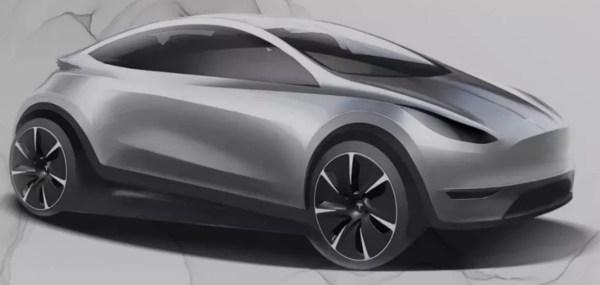 expected upcoming Tesla Electric Autonomous Hatchback design