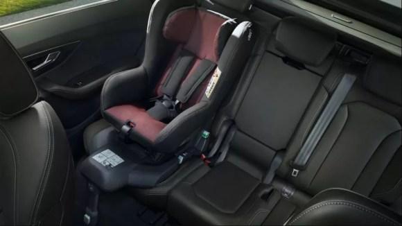 1st generation Audi Q8 SUV rear seats view