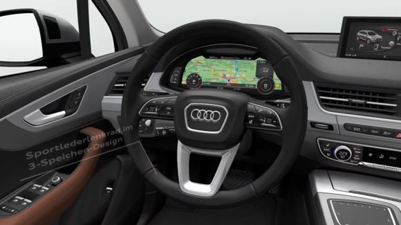 2nd Generation audi Q7 SUV steering wheel and controls