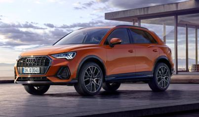 2nd generation Audi Q3 SUV front side view