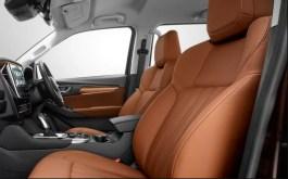 2nd generation Isuzu Mux suv front seats view