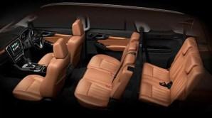2nd generation Isuzu Mux suv full interior view