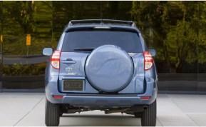 3rd generation Toyota Rav4 SUV full rear view