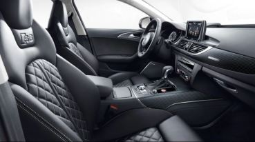 4th generation Audi A6 S6 sedan front cabin full interior view