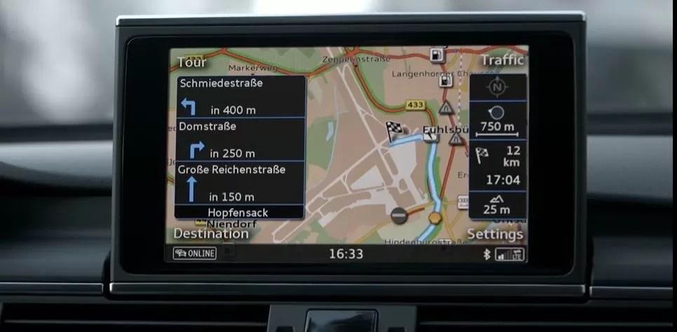 4th generation Audi A6 S6 sedan infotainment screen view