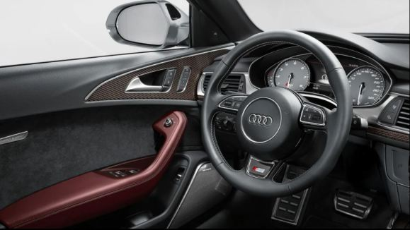 4th generation Audi A6 sedan steering wheel and instrument cluster