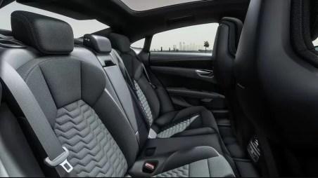 1st generation Audi E tron GT All Electric Sedan base rear seats view