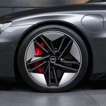 1st generation Audi E tron GT All Electric Sedan beautiful wheel view
