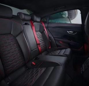 1st generation Audi E tron GT RS All Electric Sedan Rear seats view
