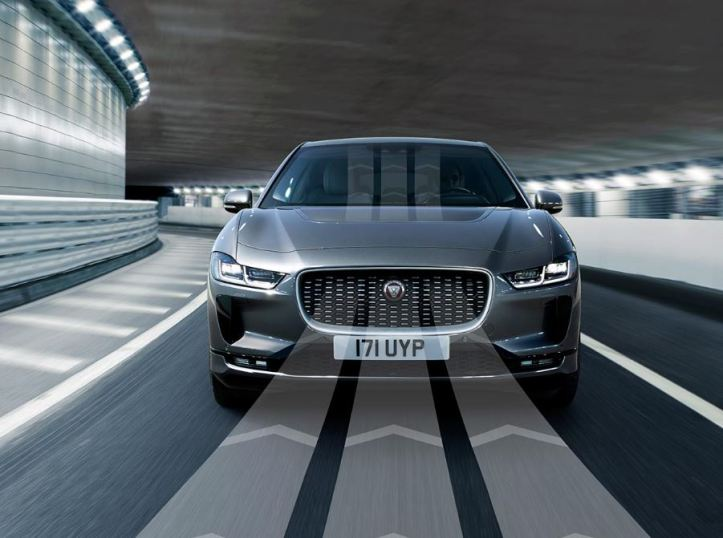 1st generation Jaguar i pace all Electric SUV front view
