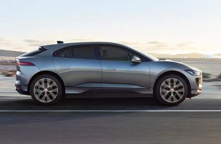 1st generation Jaguar i pace all Electric SUV full side view
