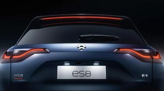 1st generation Nio ES8 electric SUV full rear view