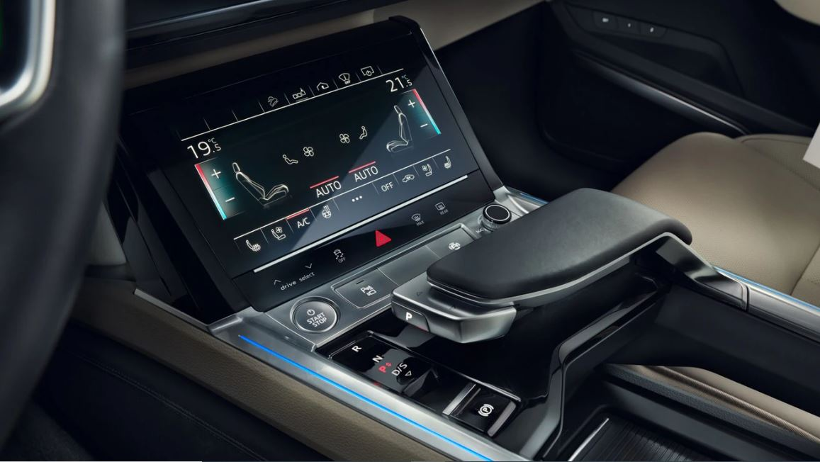 1st generation audi e tron sportback fully electric 3rd screen view