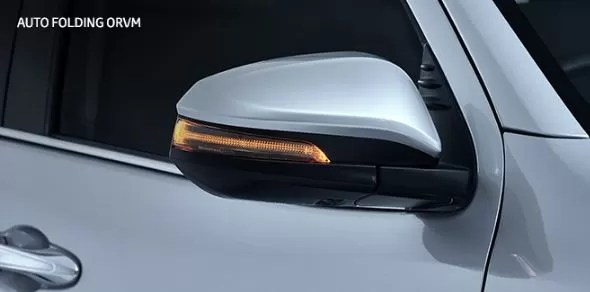 2nd generation facelifted toyota fortuner suv auto folding mirror with turn indicator