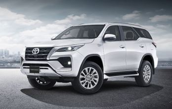 2nd generation facelifted toyota fortuner suv headlamps fog lamps and wheel view