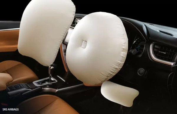 2nd generation facelifted toyota fortuner suv safety airbags