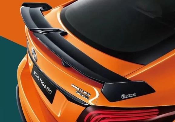 3rd generation mg6 pro sedan rear spoiler view