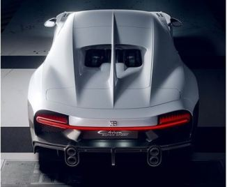 Bugatti unveiled Chiron SuperSport Limited edition full rear view