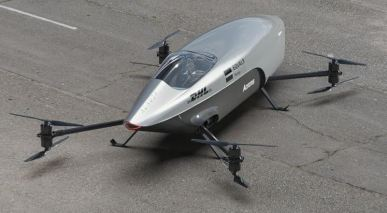 mk3 first flying racing car view from upside
