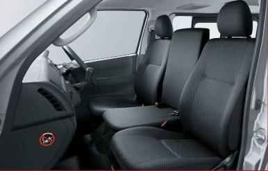 6th generation Toyota hiace van front seats view