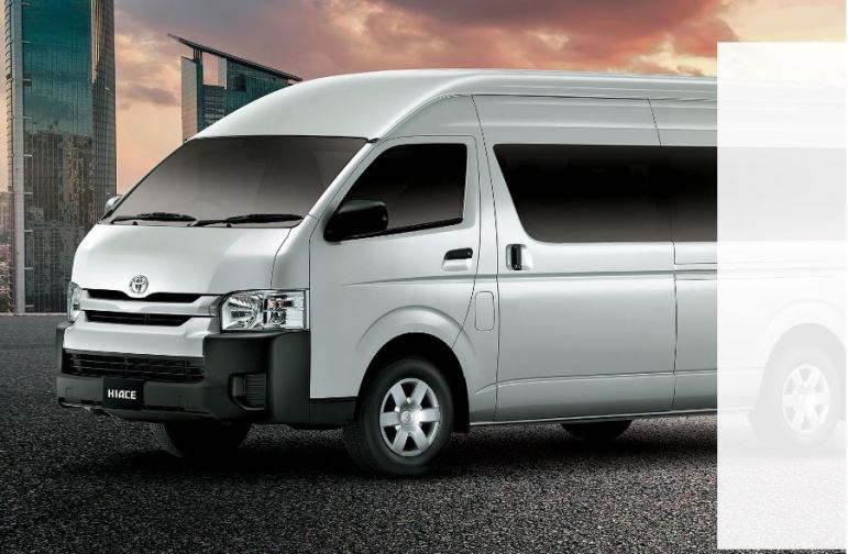 6th generation Toyota hiace van front side exterior view