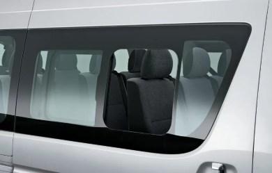 6th generation Toyota hiace van rear window view